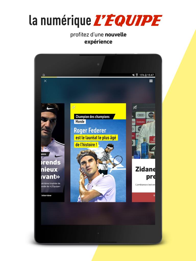 L'Équipe - Sport en direct : foot, tennis, rugby.. Screenshot 4
