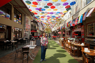 Photo: Umbrella street was made awesome by about 700 umbrellas