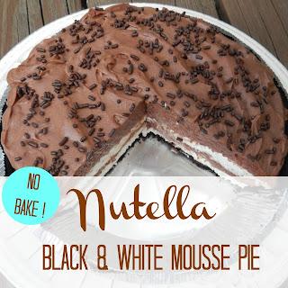 No-Bake Nutella Black & White Mousse Pie