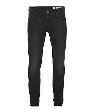 Photo: Print Cigarette Jeans>>  UK> http://bit.ly/OcNyYR  US> http://bit.ly/LYF2gc  Our slimmest fit, a neat fitting square top block that sits low on your hips with a skinny leg. Comes in a washed black denim with black leather patch, signature ramskull profile stitch and gunmetal finished shanks and rivets.
