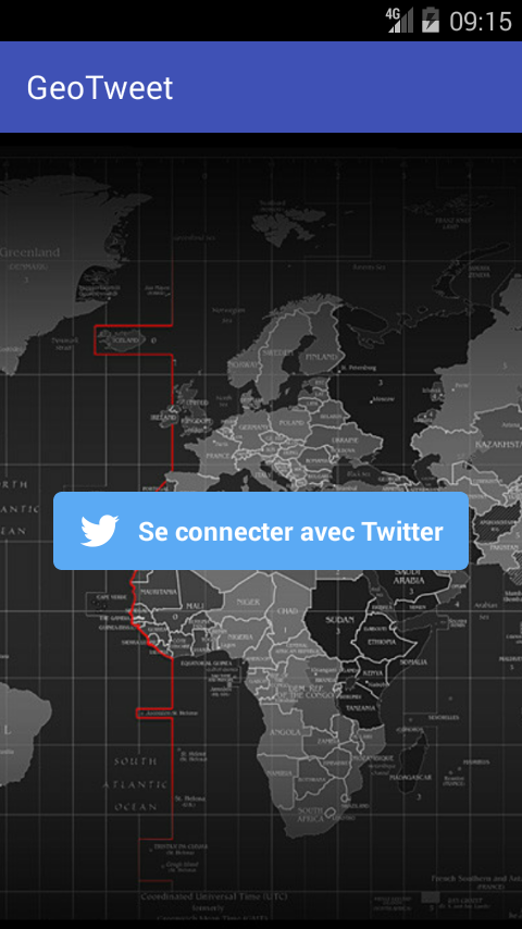 GeoTweet – Screenshot