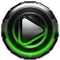 Poweramp skin Green Glow icon