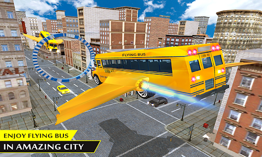 Futuristic flying Bus Simulator: School Driving 3D - náhled