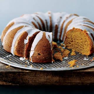 Pumpkin Spice Bundt Cake with Buttermilk Icing.