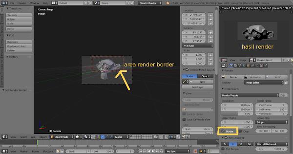 area render border