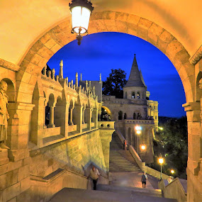 Fisherman's Bastion by Kinga Urban - City,  Street & Park  Historic Districts ( history, old city, architecture, house, travel photography,  )