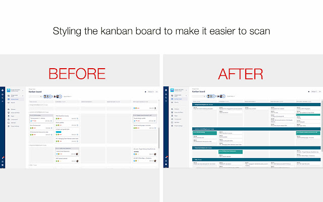 Make Kanban boards more scanable
