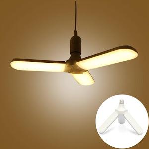 Lampa LED cu 3 brate mobile ajustabile, E27 6500K 45W, Warm White