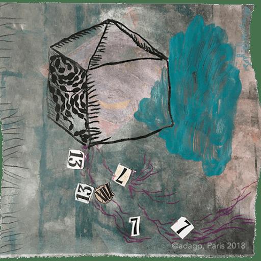 la-maison-de-la-chance-7-13-luck-loto--sophie-lormeau-peinture-artiste-contemporaine-papier-magazine-upcycling-chagall-singuler-art-figuratif-recyclage-colorful-adag-paris-2018