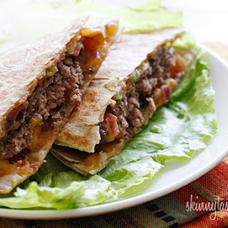 Skinny Buffalo Burger Quesadilla