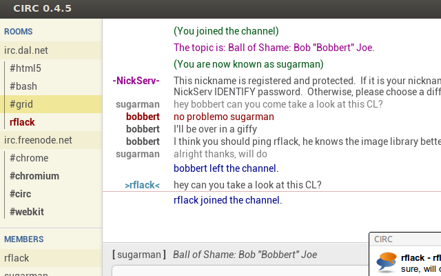 CIRC screenshot