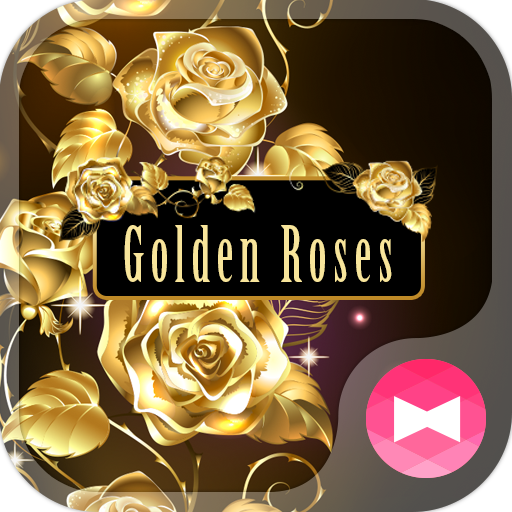 Beautiful Wallpaper Golden Roses Theme Icon