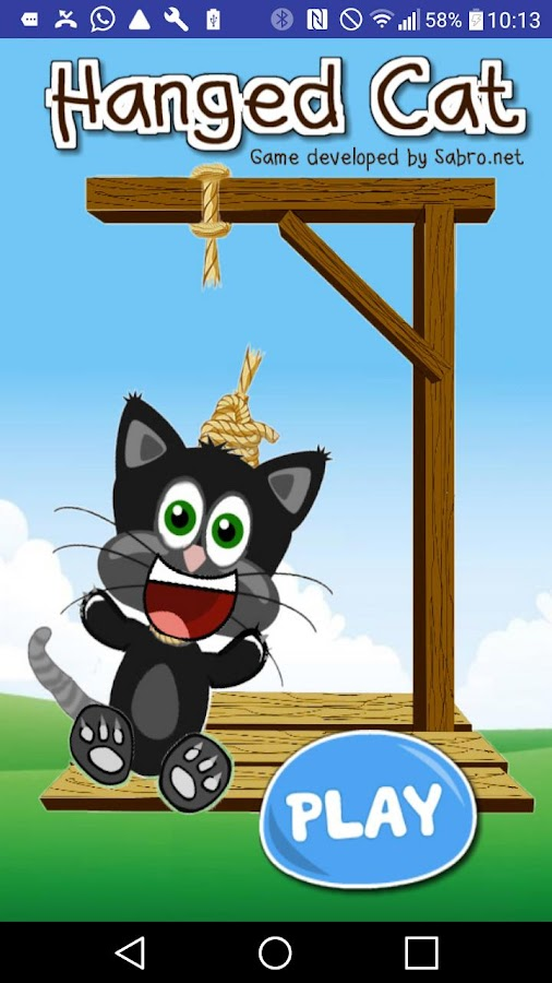 Hanged Cat hangedcat Cat Game- screenshot
