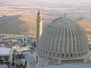 Photo: Sunset on the roof of a medresesi, Mardin
