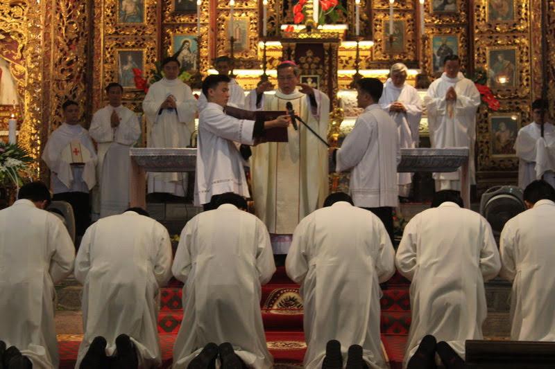 Giáo phận Phát Diệm có thêm 12 Phó tế