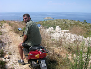 Photo: Our tiny wheels on quite Lastovo Island