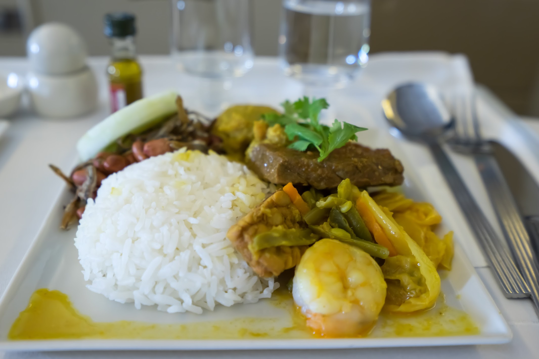 Singapore Airlines business class Book the Cook Nonya Nasi Padang