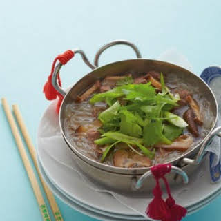 Chinese Lamb Soup With Rice Noodles.