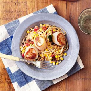 Summer Corn & Scallop Pasta