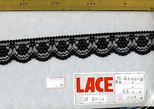 Photo: №5146-907ラッセル黒:巾35mm