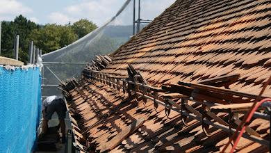 Photo: rund 600 Ziegel ausgewechselt