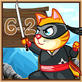 Ninja Cat Math Survive Android APK Download Free By Plaf Mini Games