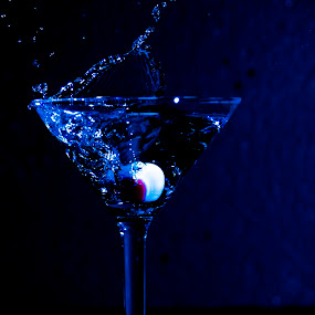 by Jan Crawford - Food & Drink Alcohol & Drinks ( blue, swirl, drink, glass, splash water photography,  )