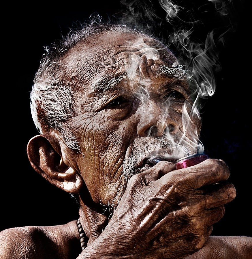 My cigarette.. by Hendrik Cuaca - People Portraits of Men ( senior citizen )