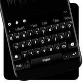 Classic Business Black White Keyboard Theme icon