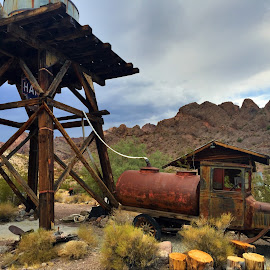 Nelson Ghost Town, NV by Stephen Terakami - Novices Only Landscapes ( las vegas, desert, nevada, nelson, old truck )