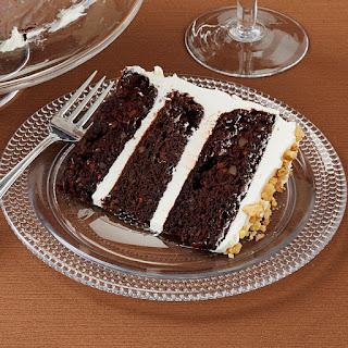 Dark Chocolate Carrot Cake.