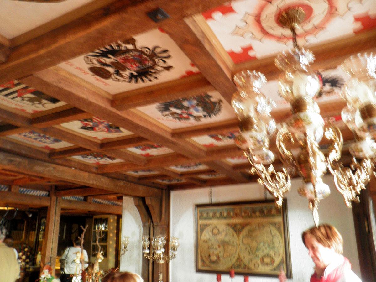 Photo: ornate ceiling