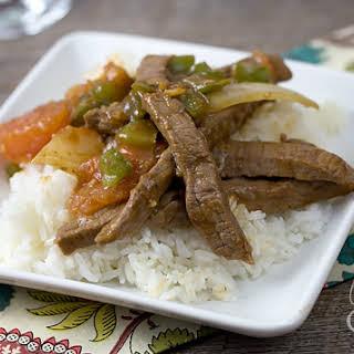 Chinese Pepper Steak.