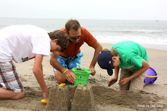 Photo: (Year 3) Day 22 -  All 3 Boys Having Fun in the Sand