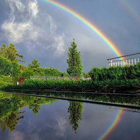 Double Rainbow by Jessica Meckmann - Instagram & Mobile iPhone ( puddleizer, iphone, rainbow )