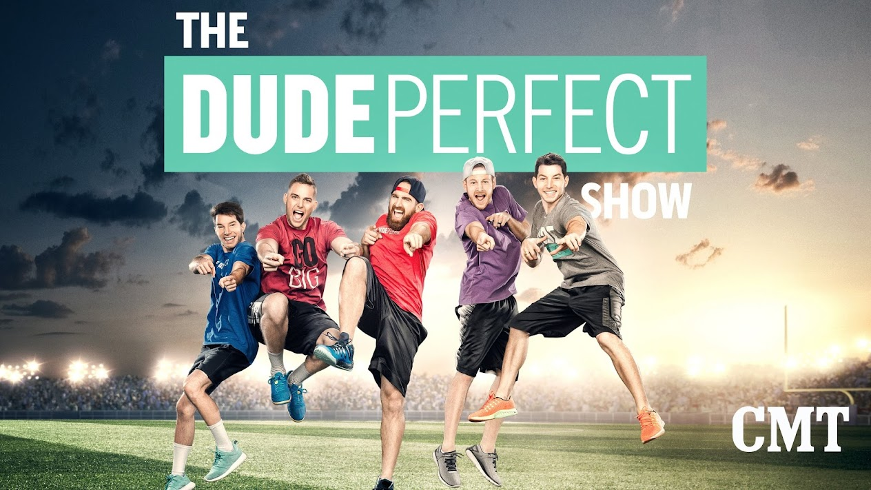 The dude perfect show movies tv on google play for Dude perfect logo wallpaper
