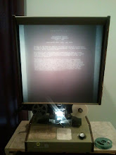Photo: My new (old) microfilm reader