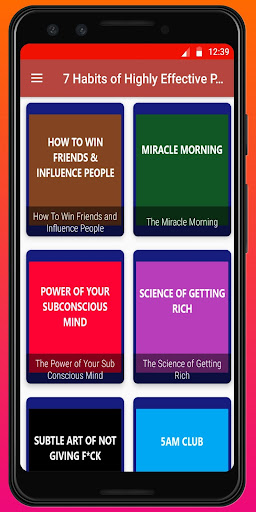 The 7 habits of Highly Effective People Summary screen 0