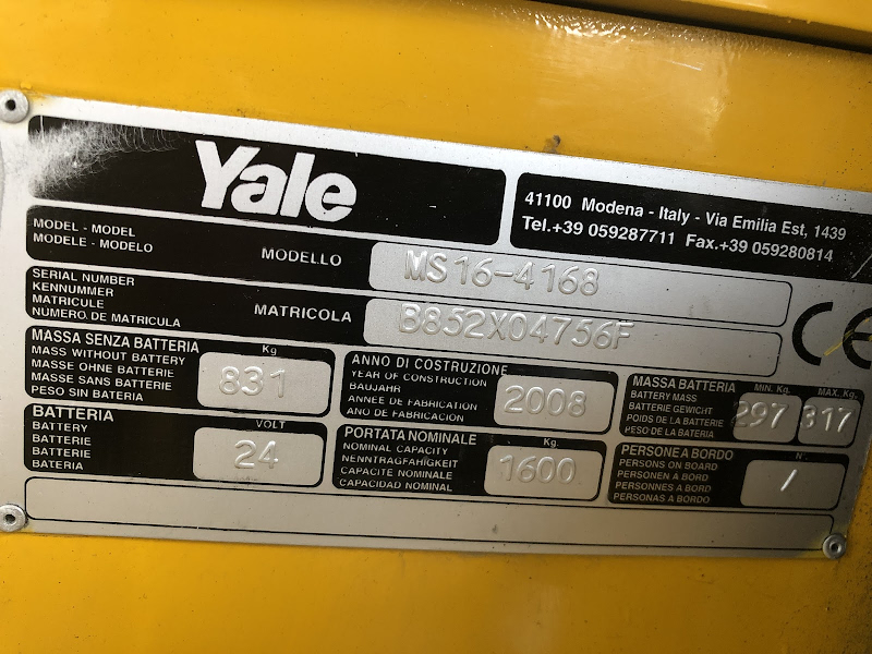 Picture of a YALE MS16