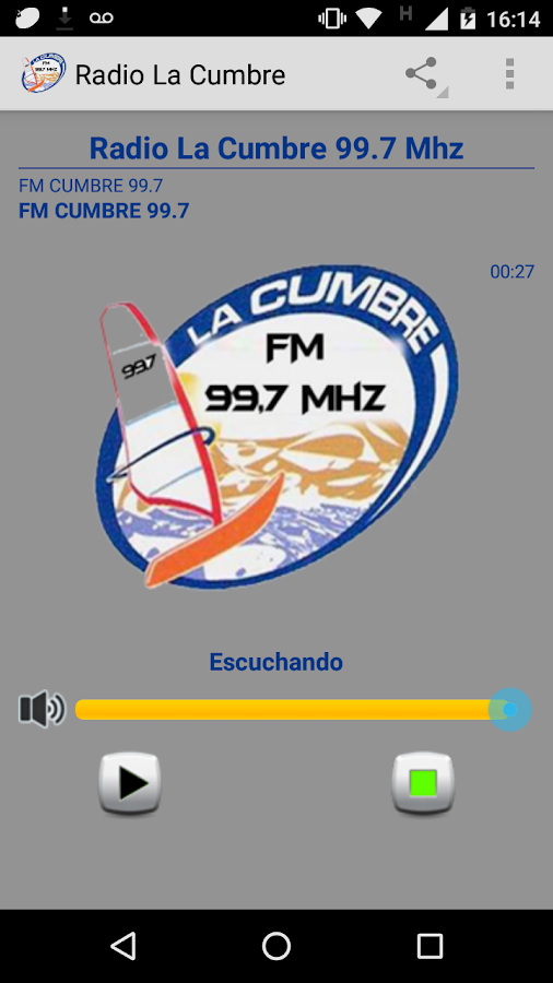Radio La Cumbre San Juan- screenshot