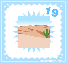 Photo: A tropical island, a hospital... seems like there are no typical Christmas backgrounds in my sp-studio.de Advent Calendar this year. And today we continue with a sunny desert. Hooray! By the way: This was a wish from one of my visitors and you can still suggest your own ideas for the next couple of days.