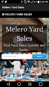 Melero Yard Sales - Search screenshot 1