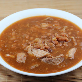 Slow Cooker Pork and Beans.
