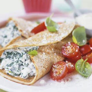 Savoury Filled Crepes.