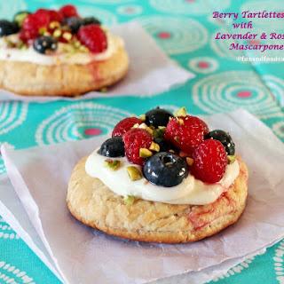 Berry Tarts with Lavender Rosewater Mascarpone Cream.