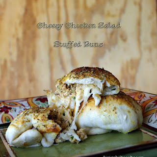 Cheesy Chicken Salad Stuffed Buns