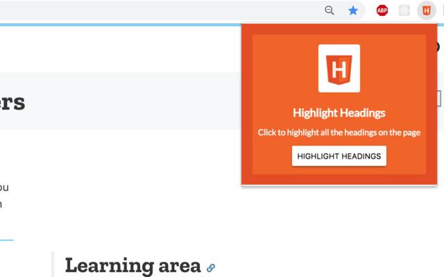 HTML Heading Highlighter