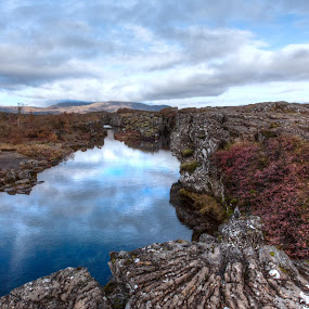 Thingvellir by Johann Pall Valdimarsson - Landscapes Caves & Formations