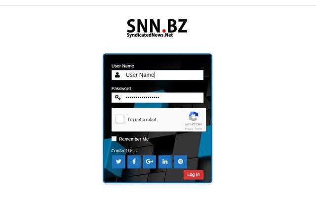 SyndicatedNews.NET llc User Login