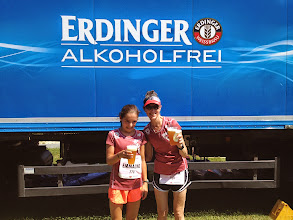 Photo: Emmaline's first taste of beer